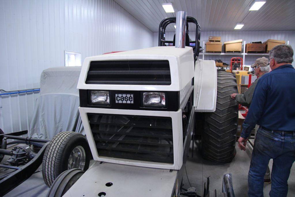 tractor in auto shop
